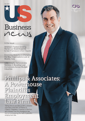 Attorney Parisis Filippatos Appears on Cover of US Business News