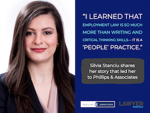 Silvia Stanciu Discusses Sexual Harassment for Lawyer Monthly