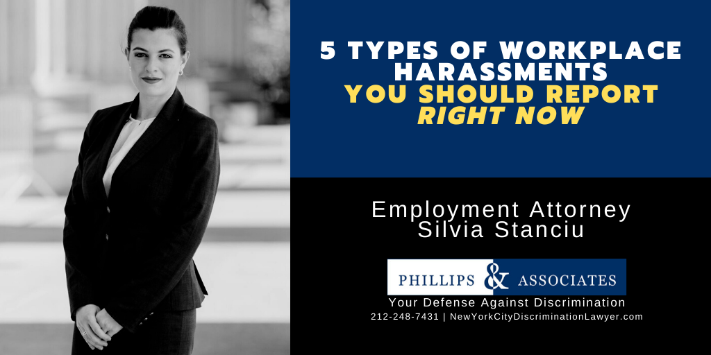 5 Types of Workplace Harassments